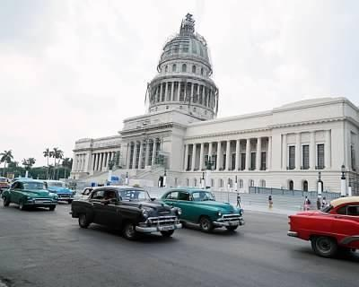 Classic Cars in front of the Capitolio, Havana