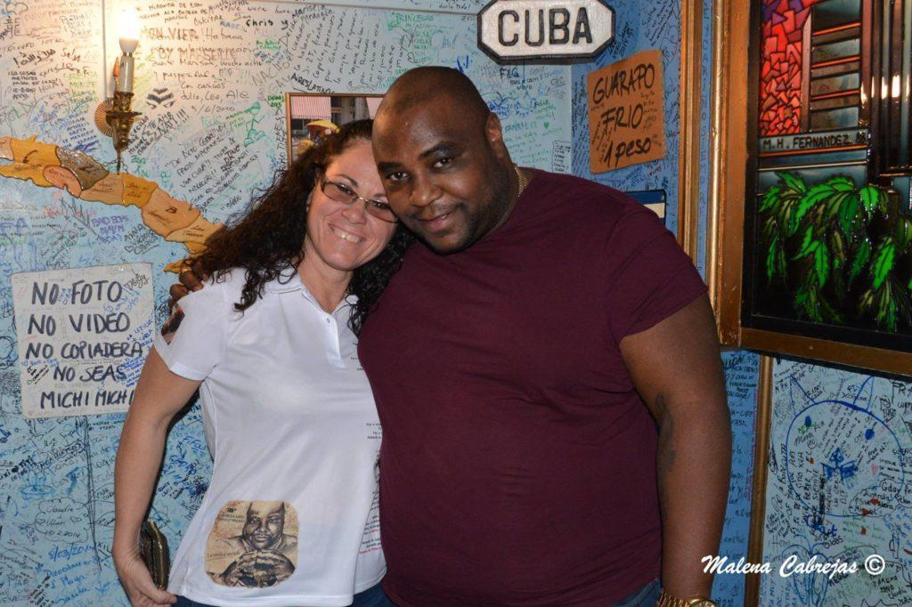 Alexander Abreu of Havana de Primera with PlazaCUBA Tour Leader, Margarita Permuy